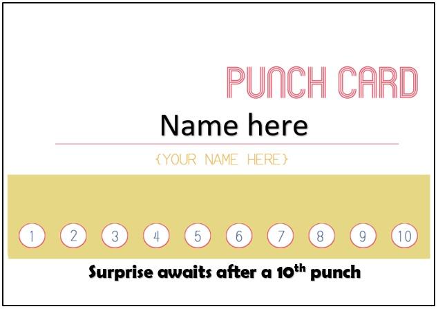 25+ Free Punch / Reward Card Templates [Word, PDF]