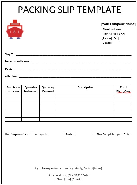 20+ Free Packing Slip Templates [Excel, Word, PDF]