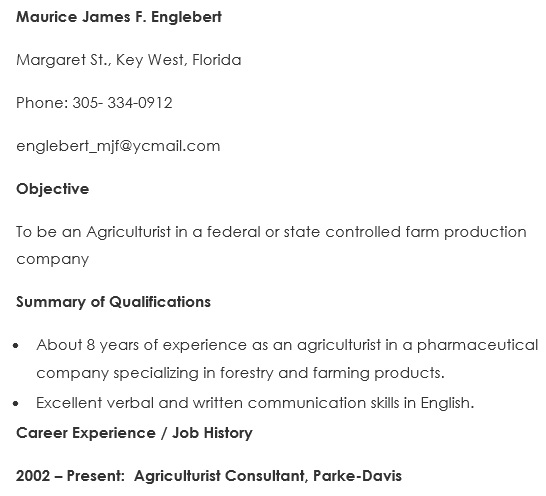 Best Agriculture Resume Templates [Examples & Samples]