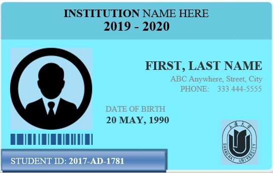 Free Student Identification Card Templates [Word+Excel]