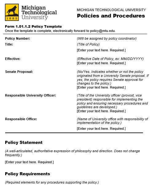 free policy proposal template 4