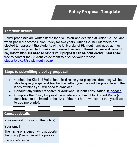 Free Policy Proposal Templates & Examples [Excel, Word, PDF]
