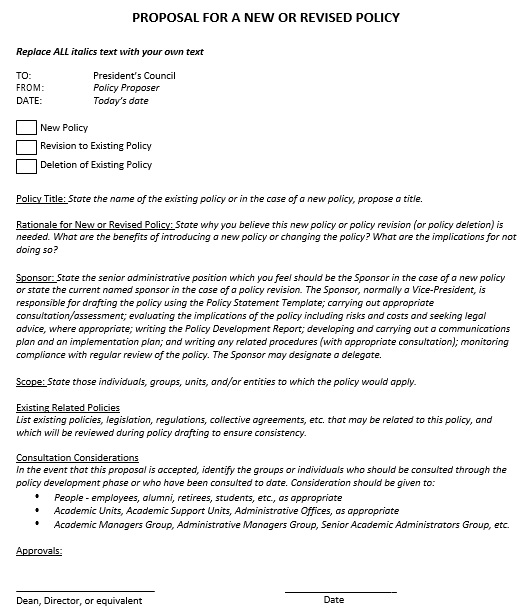 free policy proposal template 6