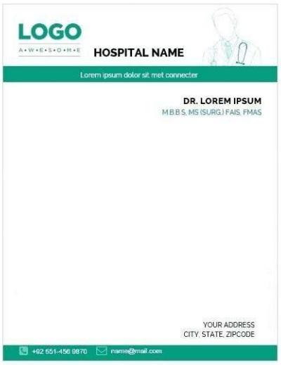 Printable Doctor Prescription Pad Templates [Word, PDF]