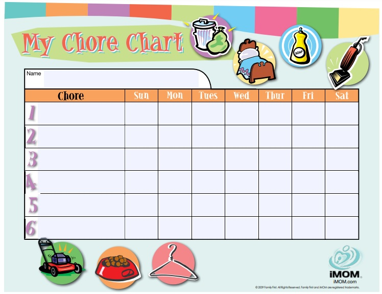 20+ Free Chore Chart Templates for Family and Kids