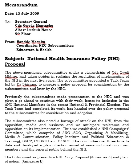 national health insurance policy proposal template
