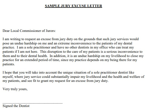 Free Jury Duty Excuse Letters & Templates [Word, PDF]