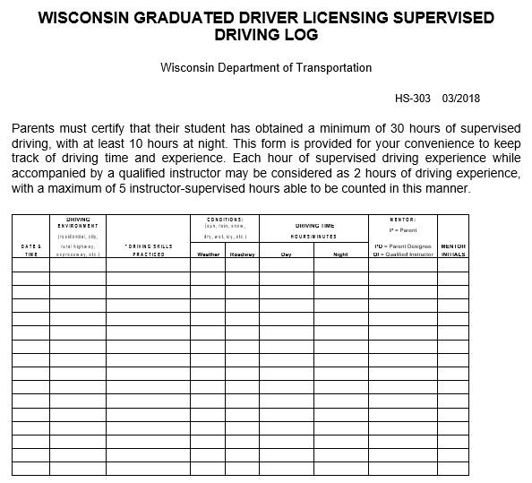 blank driver log book template