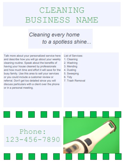 business cleaning flyers