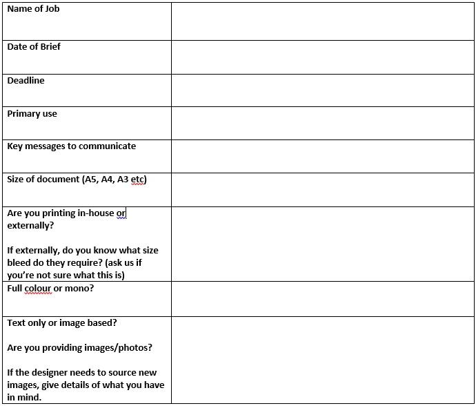 creative briefing form