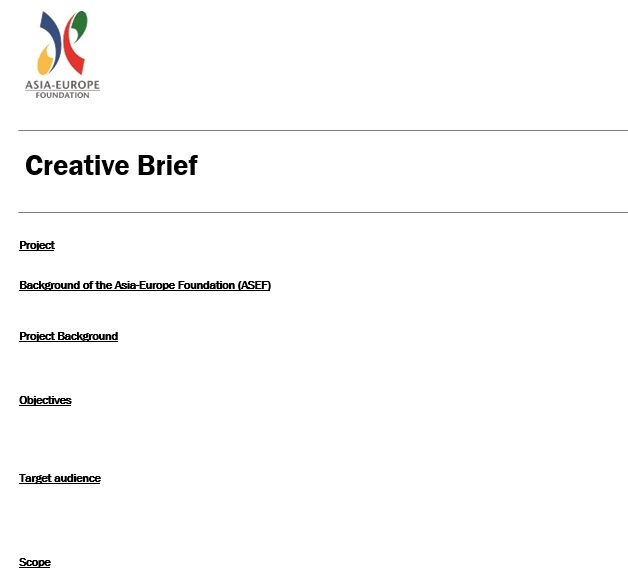 free creative brief template 10