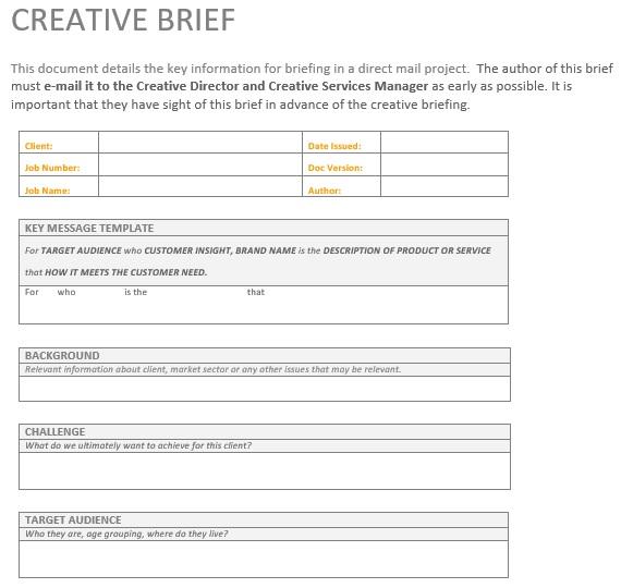 free creative brief template 11