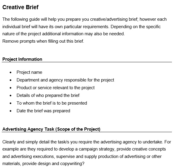 free creative brief template 14
