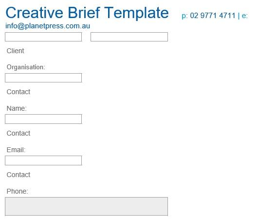 free creative brief template 7