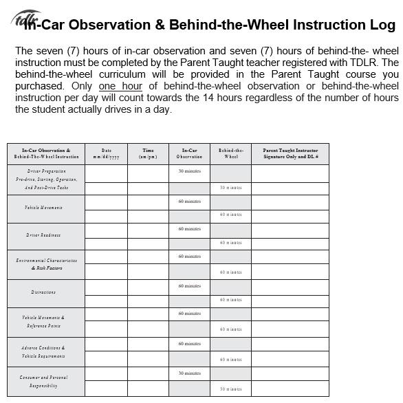 free driver log book template 3