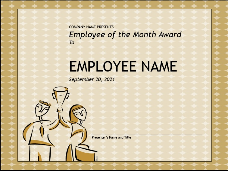 free employee of the month certificate template 1