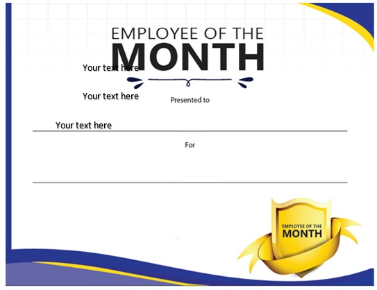 free employee of the month certificate template 16