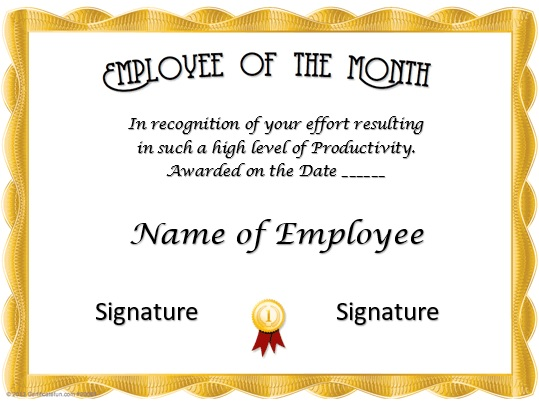 free employee of the month certificate template 19