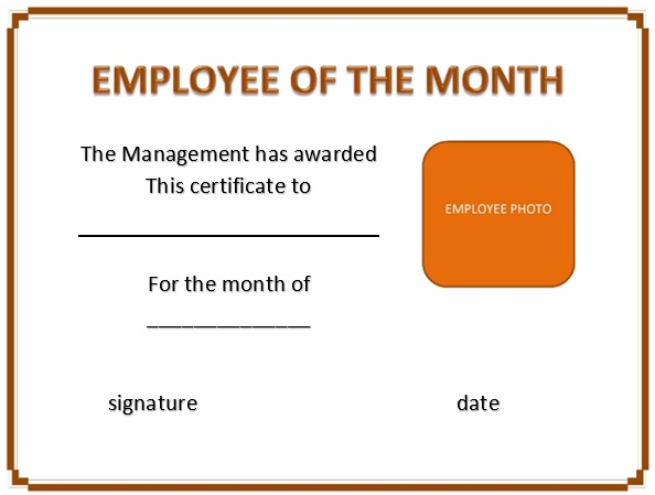 free employee of the month certificate template 22