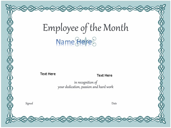 Free Employee of the Month Certificate Templates [Word, PowerPoint]