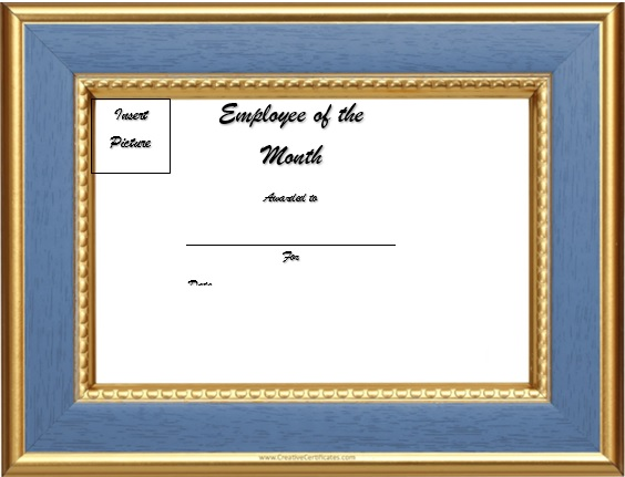 free employee of the month certificate template 24