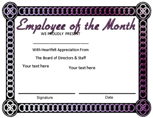 free employee of the month certificate template 5