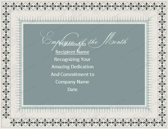 free employee of the month certificate template 7