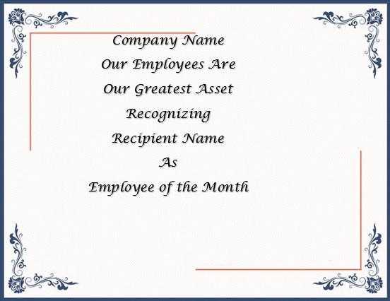 free employee of the month certificate template 8