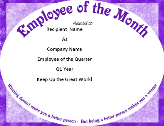 free employee of the month certificate template 9