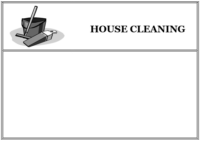 free house cleaning flyers 2