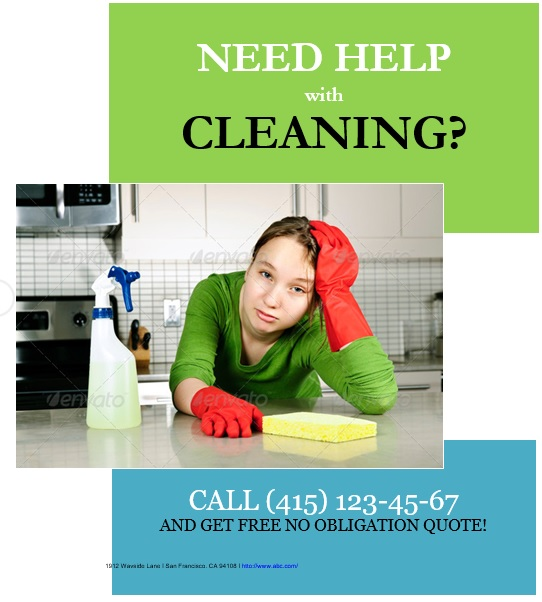 free house cleaning flyers 3