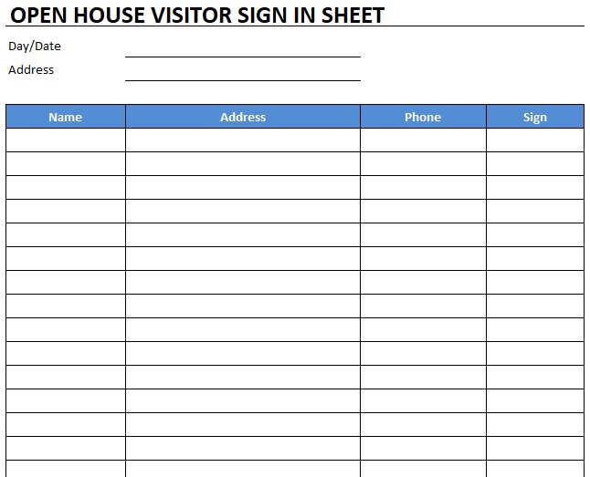 free open house sign in sheet 10