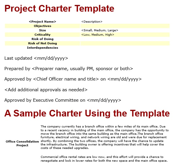 free project charter template 14