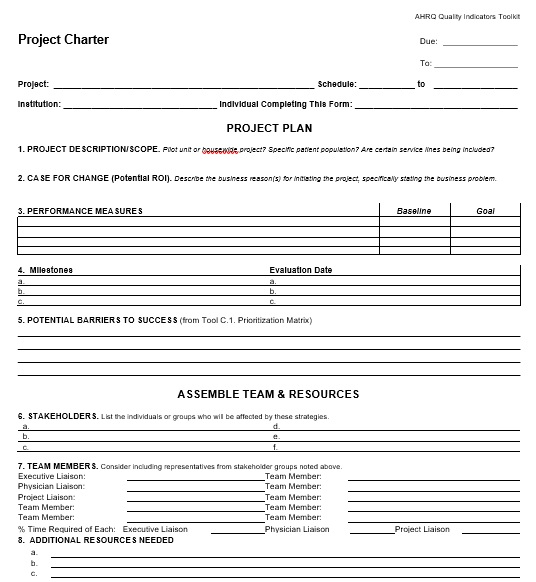 free project charter template 2