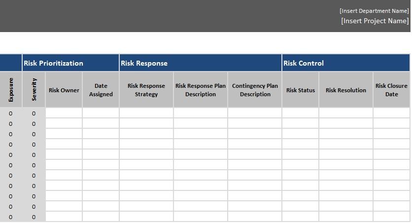 free risk register template 8
