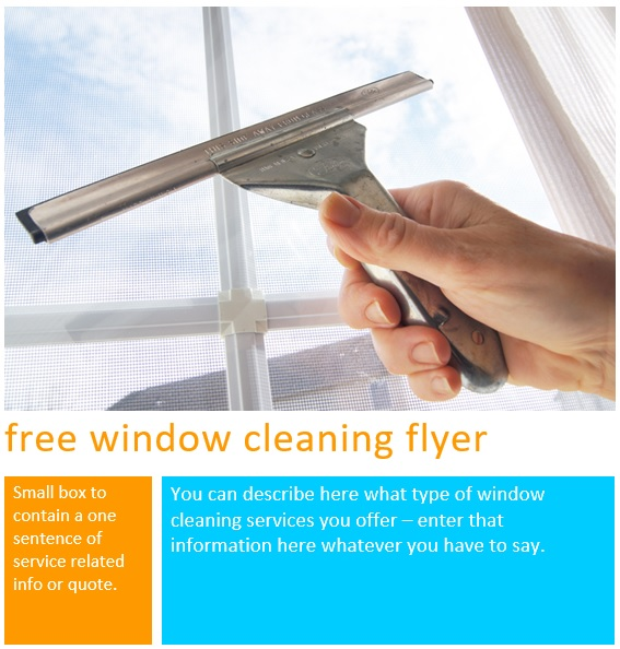 free window cleaning flyer