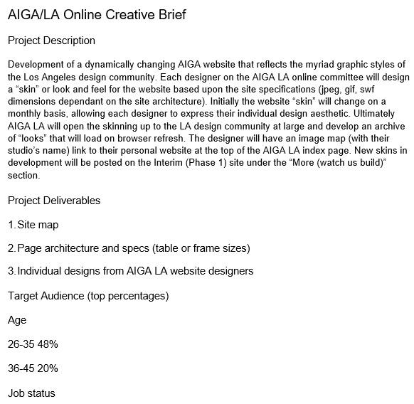 online creative brief template