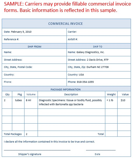 printable commercial invoice template 18