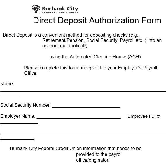 printable direct deposit authorization form 2