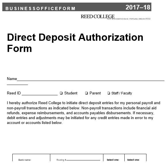 printable direct deposit authorization form 8