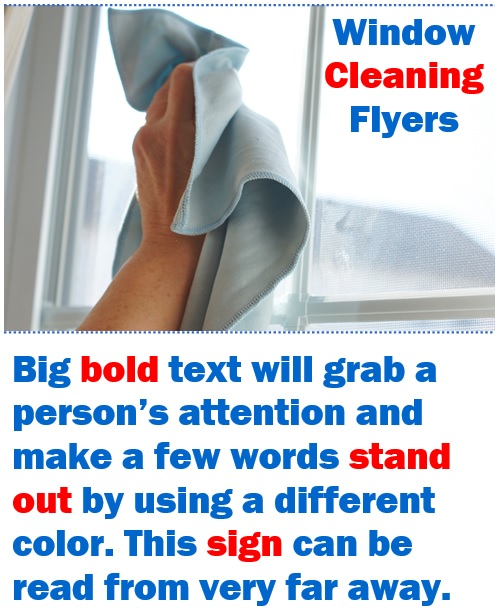 window cleaning flyer designs