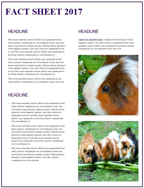 endangered species fact sheet template