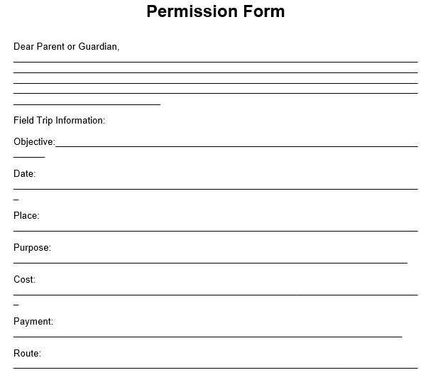 Permission Slip Templates & Field Trip Forms [MS Word]