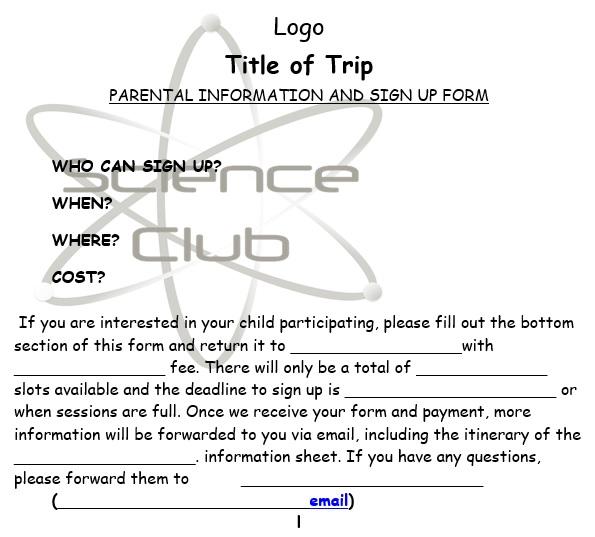 free permission slip template 2