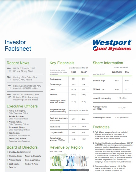 investor fact sheet template