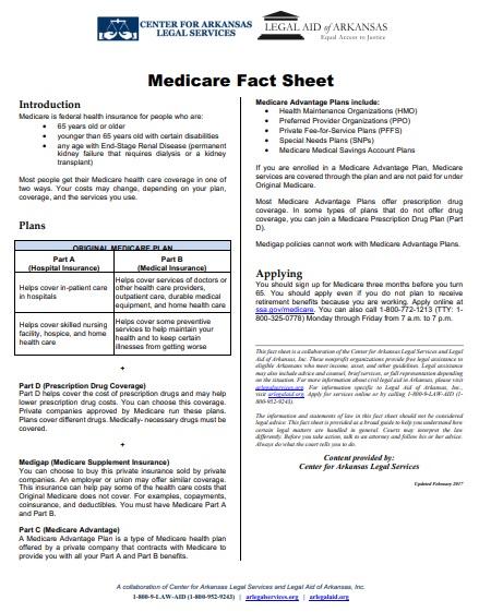 medicare fact sheet template